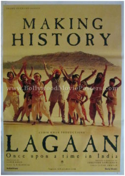 Lagaan team poster Aamir Khan all movie