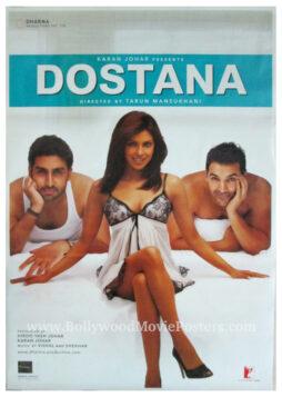 Dostana movie poster Priyanka Chopra John Abraham Abhishek Bachchan