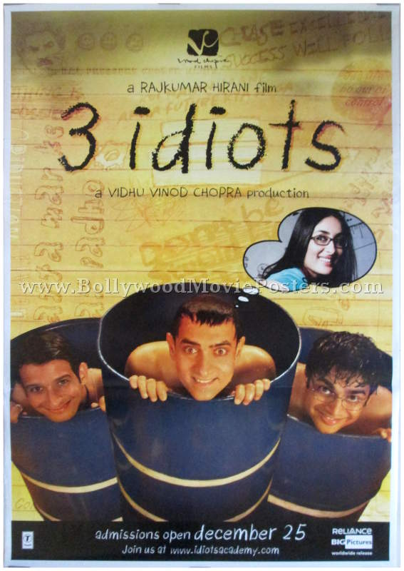 3 Idiots Bollywood Movie Posters