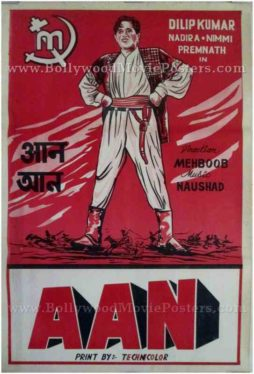 Aan vintage bollywood posters Mumbai UK
