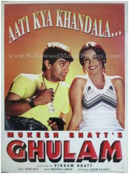 Aati Kya Khandala poster Aamir Khan Ghulam movie