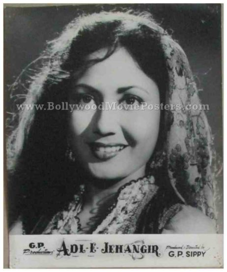 Adil-E-Jehangir 1955 old bollywood movie black and white pictures photos stills lobby cards