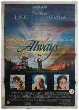 Always 1989 Audrey Hepburn steven spielberg original film movie posters memorabilia