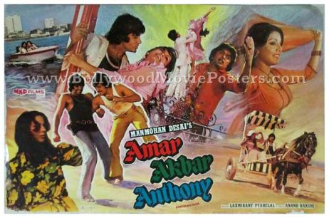 Amar Akbar Anthony old vintage Bollywood Amitabh movie posters for sale