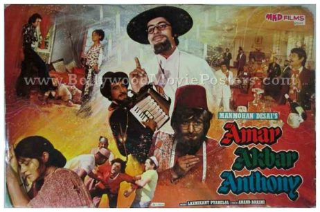 Amar Akbar Anthony old vintage Bollywood Amitabh movie posters for sale online