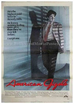 American Gigolo 1980 Richard Gere old Hollywood movie film posters