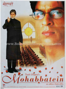 Amitabh Bachchan poster Mohabbatein old movie