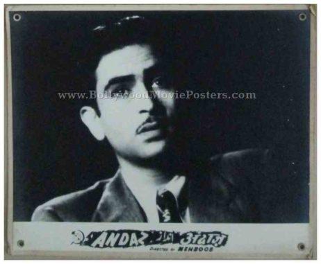 Andaz 1949 old bollywood movie raj kapoor dilip kumar black and white photos stills