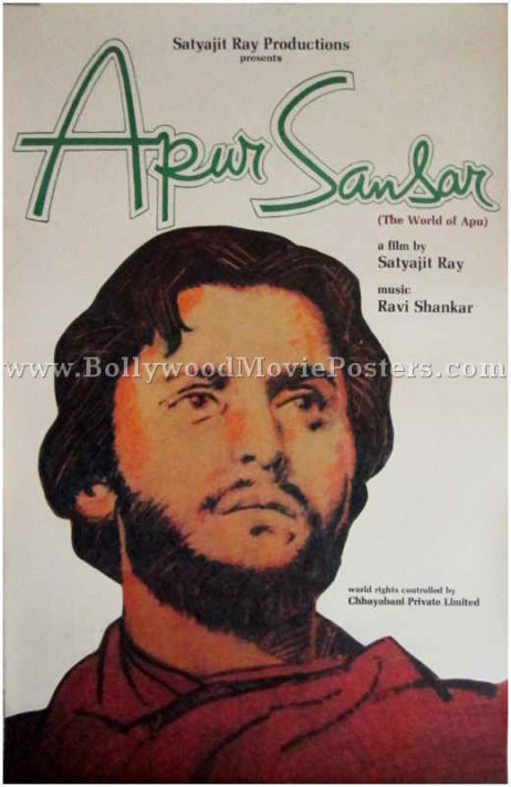 Apur Sansar 1959 The World of Apu Trilogy buy satyajit ray movie posters for sale