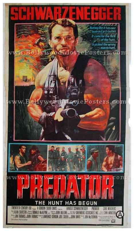 Arnold Schwarzenegger Predator Posters For Sale In Mumbai India