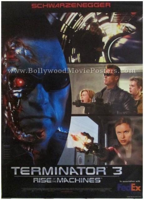 Arnold Schwarzenegger Terminator 3 movie poster original