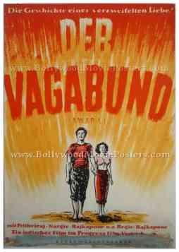 Awara 1951 Raj Kapoor old vintage hand painted bollywood movie posters for sale