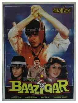 Baazigar 1993 buy shahrukh khan movie posters online india