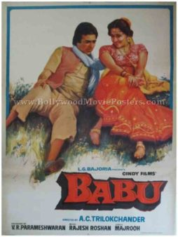 Babu 1985 buy vintage bollywood posters for sale uk