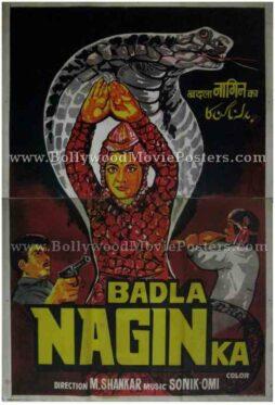 Badla Nagin Ka vintage bollywood movie posters for sale online