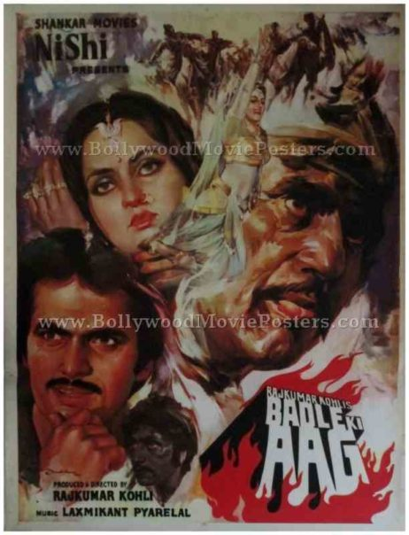 Badle Ki Aag 1982 buy old bollywood posters for sale online
