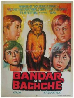 Bandar Aur Bachche 1979 indian bollywood hindi movies posters in russia soviet union