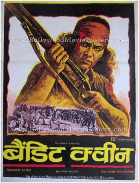 Bandit Queen movie film poster hand painted bollywood