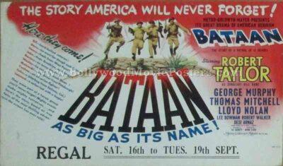 Bataan 1943 old vintage movie handbills for sale online