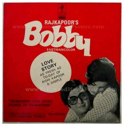 Bobby Rishi Kapoor Dimple Kapadia rare old Bollywood pressbooks, synopsis booklets & vintage Hindi film songbooks for sale