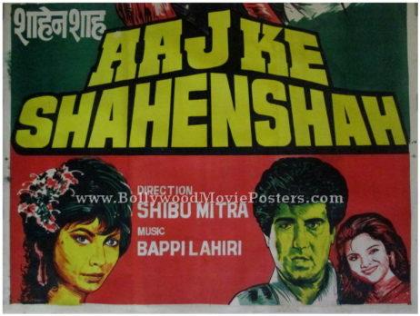 Aaj Ke Shahenshah bollywood posters art