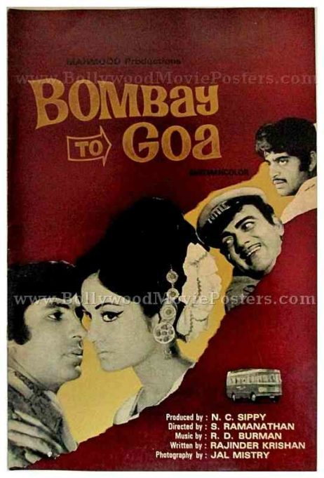 Bombay to Goa Amitabh Bachchan rare old Bollywood pressbooks, synopsis booklets & vintage Hindi film songbooks for sale