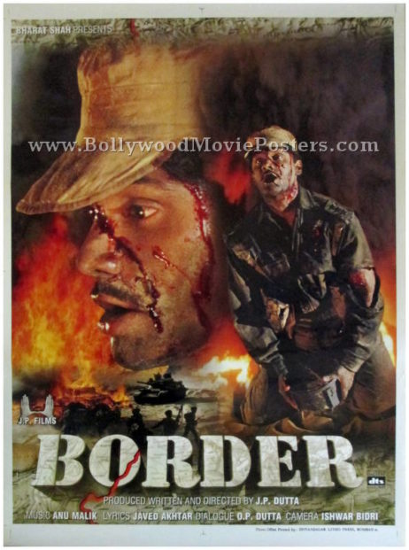 Border Hindi movie poster Sunil Shetty 1997 war film