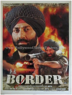 Border Hindi movie poster Sunny Deol 1997 war film