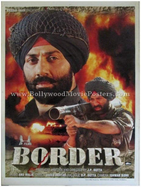 Border Hindi movie poster Sunny Deol 1997 war film