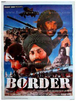 Border war movie JP Dutta Sunny Deol classic bollywood movie posters
