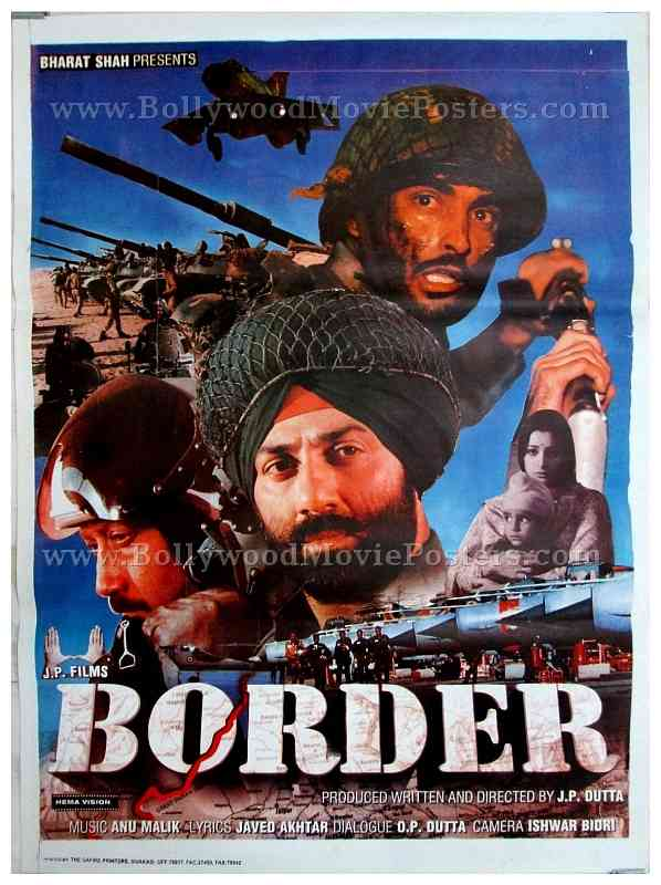 Border war classic bollywood movie posters