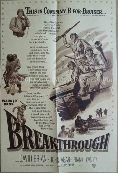 Breakthrough 1950 old vintage movie handbills for sale online in US, UK, Mumbai, India