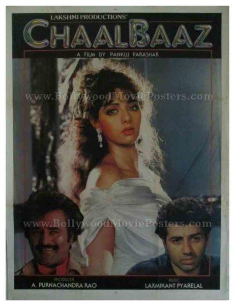 Chaalbaaz 1989 sridevi buy rajinikanth posters for sale online