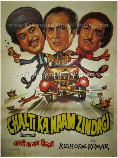 Chalti Ka Naam Zindagi vintage bollywood indian hindi film posters mumbai delhi uk