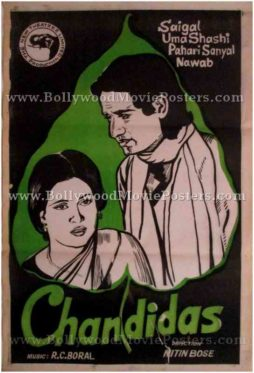 Chandidas 1934 K. L. Saigal buy old bollywood posters for sale online