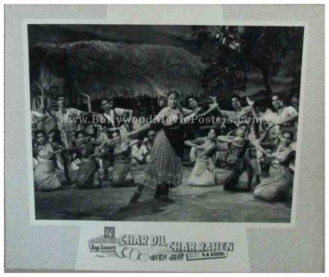 Char Dil Char Rahen Raj Shammi Kapoor old bollywood movie photos stills lobby cards