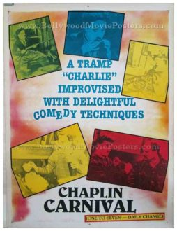 Charlie Chaplin Carnival original old vintage Hollywood movie posters for sale