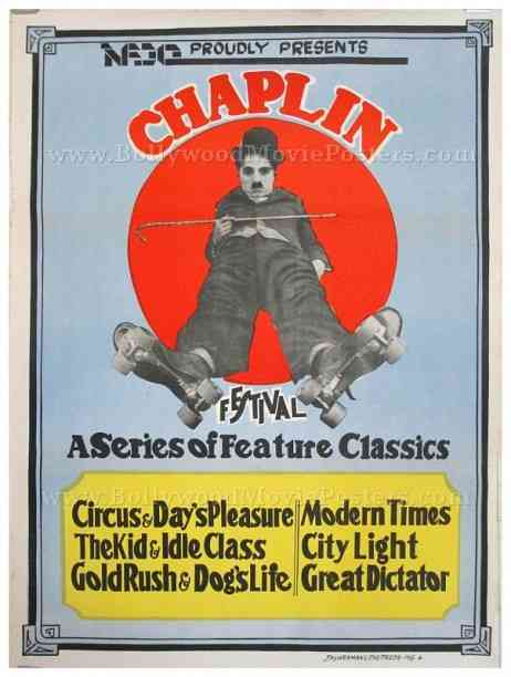 Original Charlie Chaplin Festival movie posters