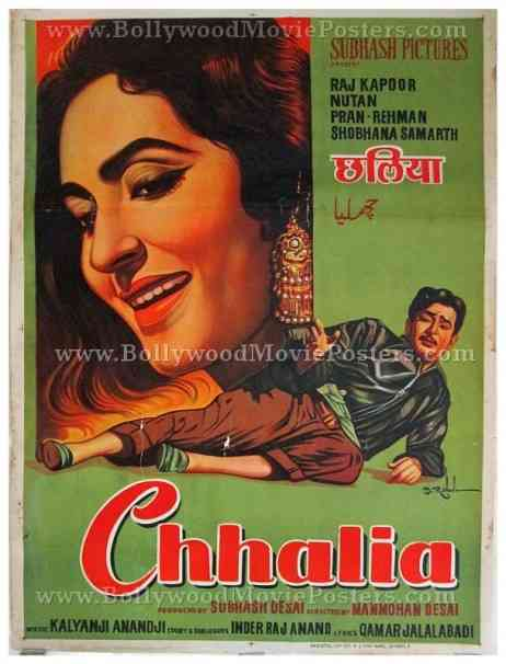 Chhalia 1960 Raj Kapoor Nutan old Bollywood movie posters for sale