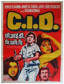 CID old vintage hand painted Bollywood posters online order
