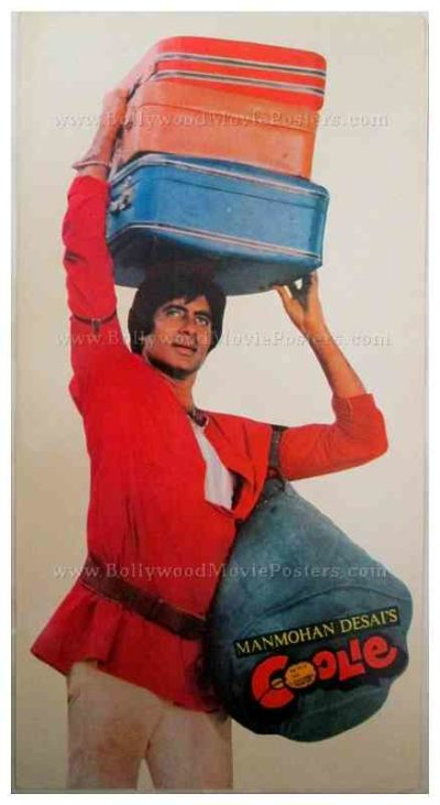 Coolie Amitabh Bachchan rare old Bollywood pressbooks, synopsis booklets & vintage Hindi film songbooks for sale