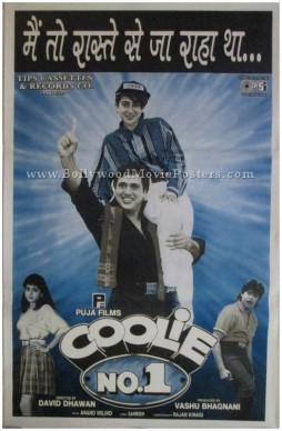 Coolie No 1 poster Govinda classic Bollywood movie