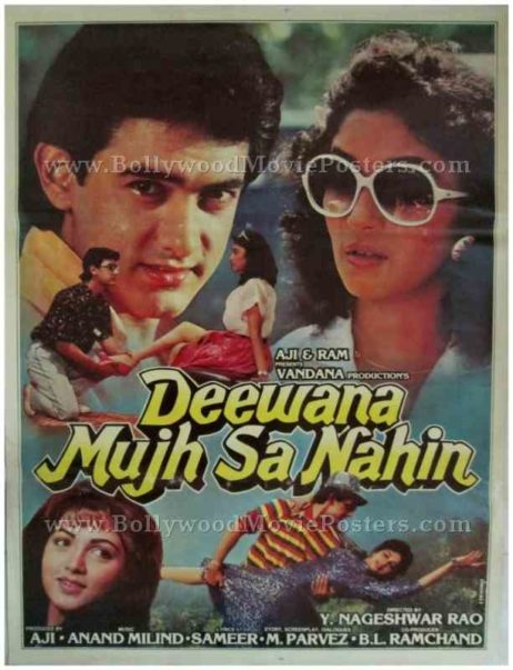 Deewana Mujh Sa Nahin Aamir Khan bollywood posters buy for sale online usa uk