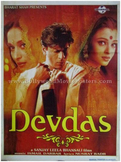 devdas 2002 movie film shahrukh khan aishwarya madhuri poster