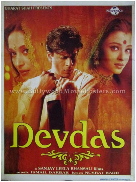 devdas 2002 movie film shahrukh khan aishwarya madhuri poster