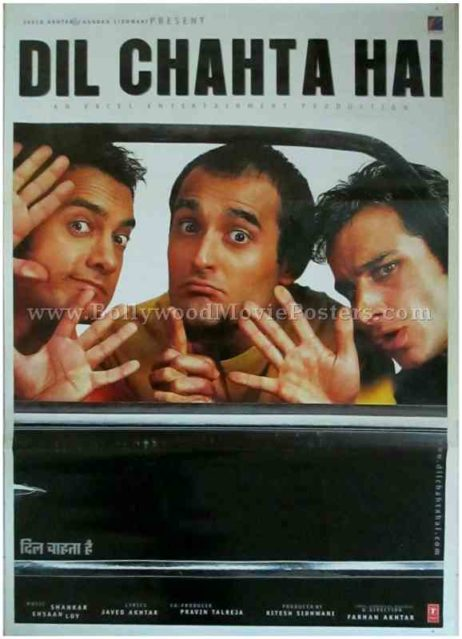 Dil Chahta Hai 2001 buy old classic bollywood Aamir Khan movie posters