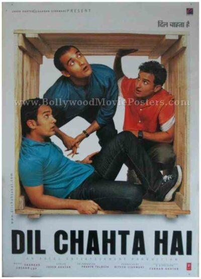 Dil Chahta Hai 2001 buy classic hindi bollywood movie film posters