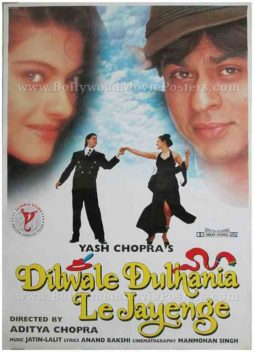 Dilwale Dulhania le jayenge DDLJ Shahrukh SRK Kajol movie poster in Switzerland for sale download