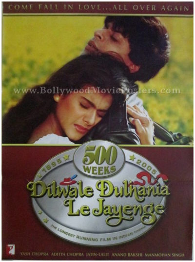 Dilwale Dulhania Le Jayenge DDLJ movie poster for sale