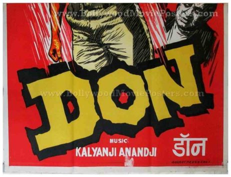 Don 1978 Amitabh old vintage handmade Bollywood movie posters for sale